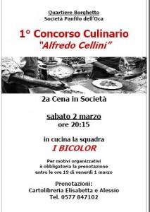"""Concorso Culinario """"Alfredo Cellini"""", 2° cena in società"""